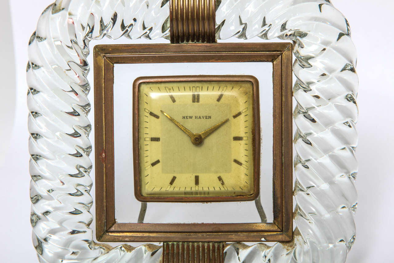 Mid-Century Modern Attributed to Venini Clock For Sale