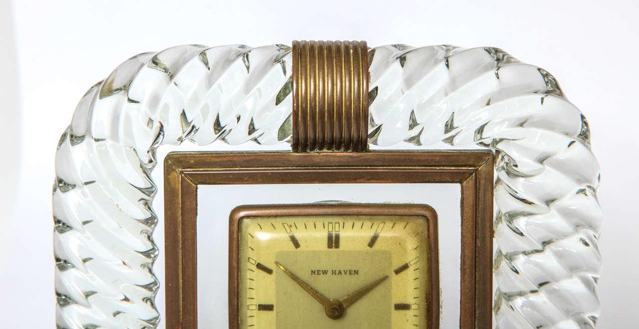 European Attributed to Venini Clock For Sale