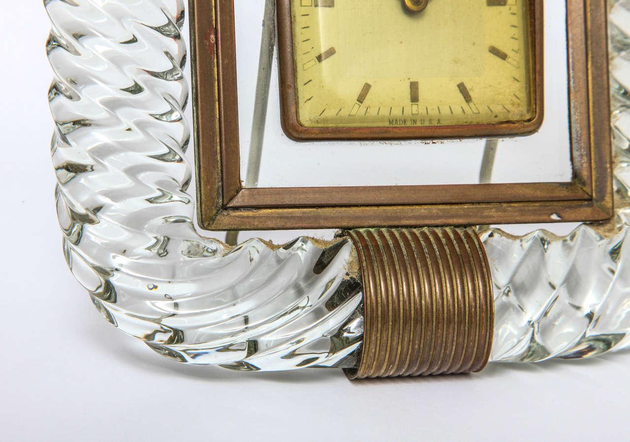 Attributed to Venini Clock In Good Condition For Sale In Princeton, NJ
