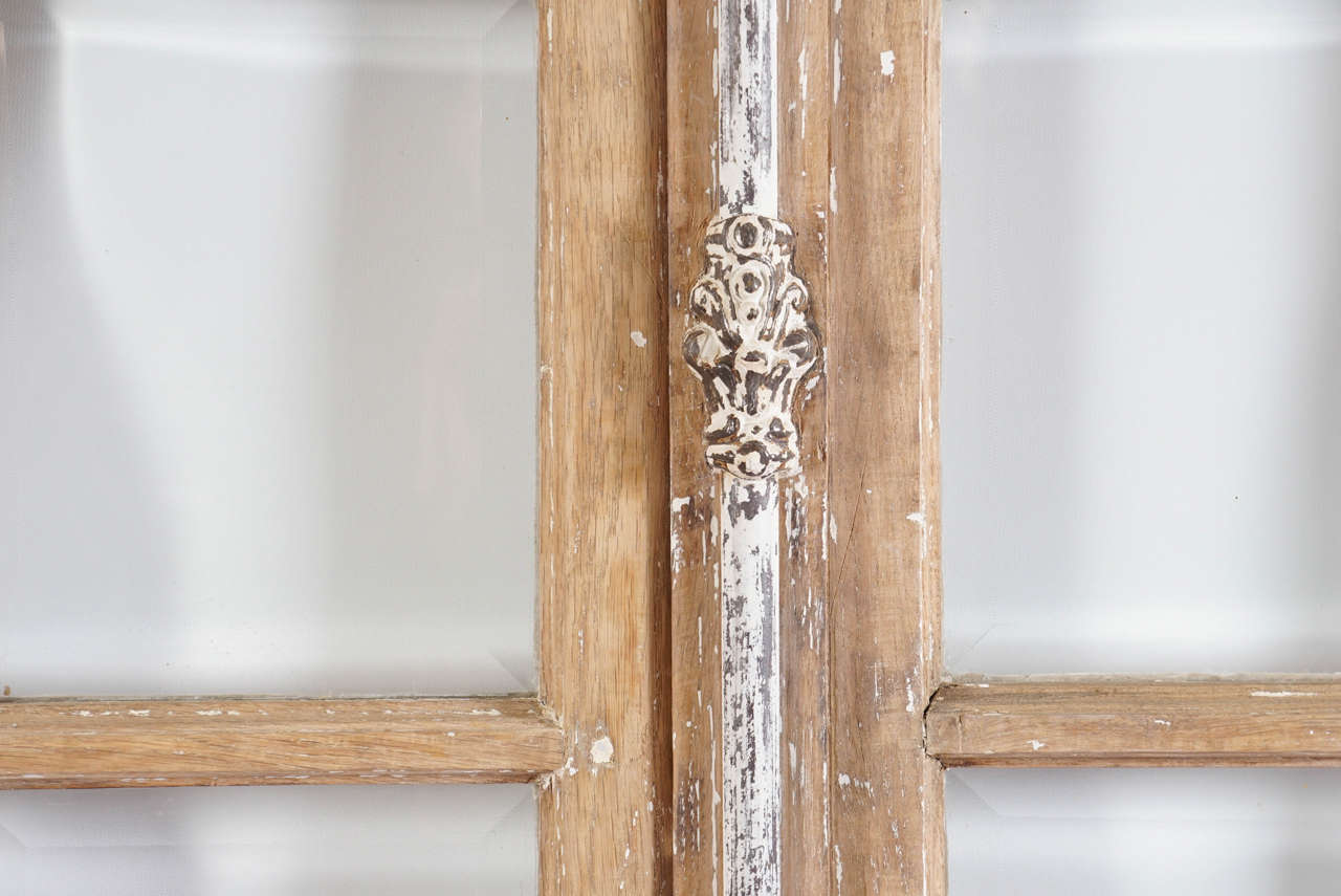 Beveled Antique French Doors with Cremone Bolt Lock For Sale