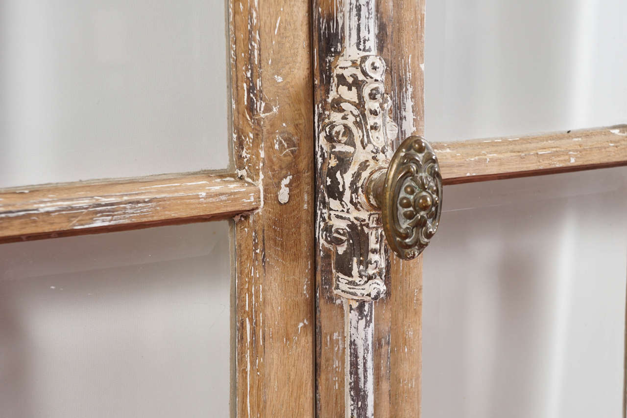 Antique French Doors with Cremone Bolt Lock In Fair Condition For Sale In Great Barrington, MA