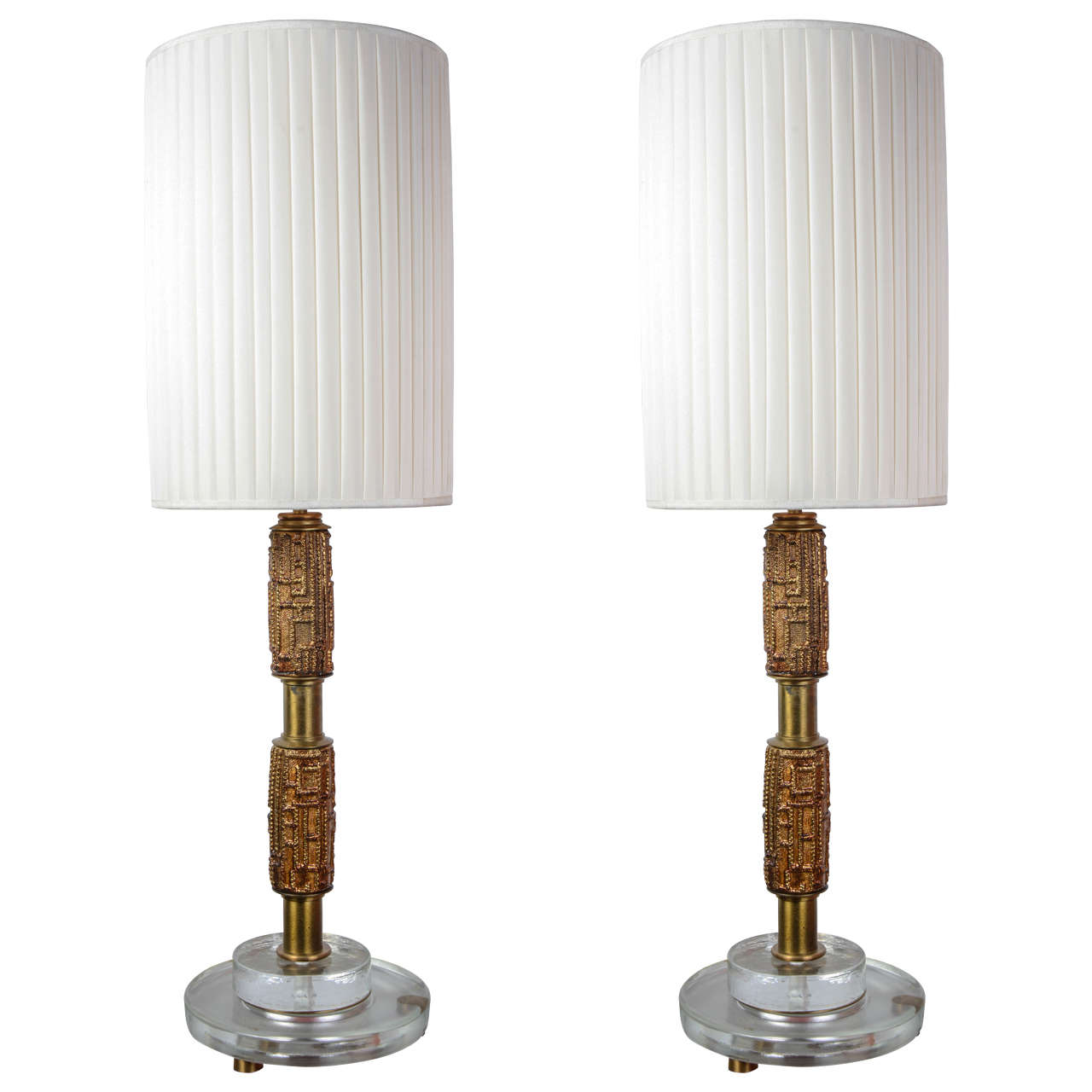 Pair of Lamps by Luciano Frigerio For Sale