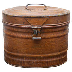 English Tin Hat Box