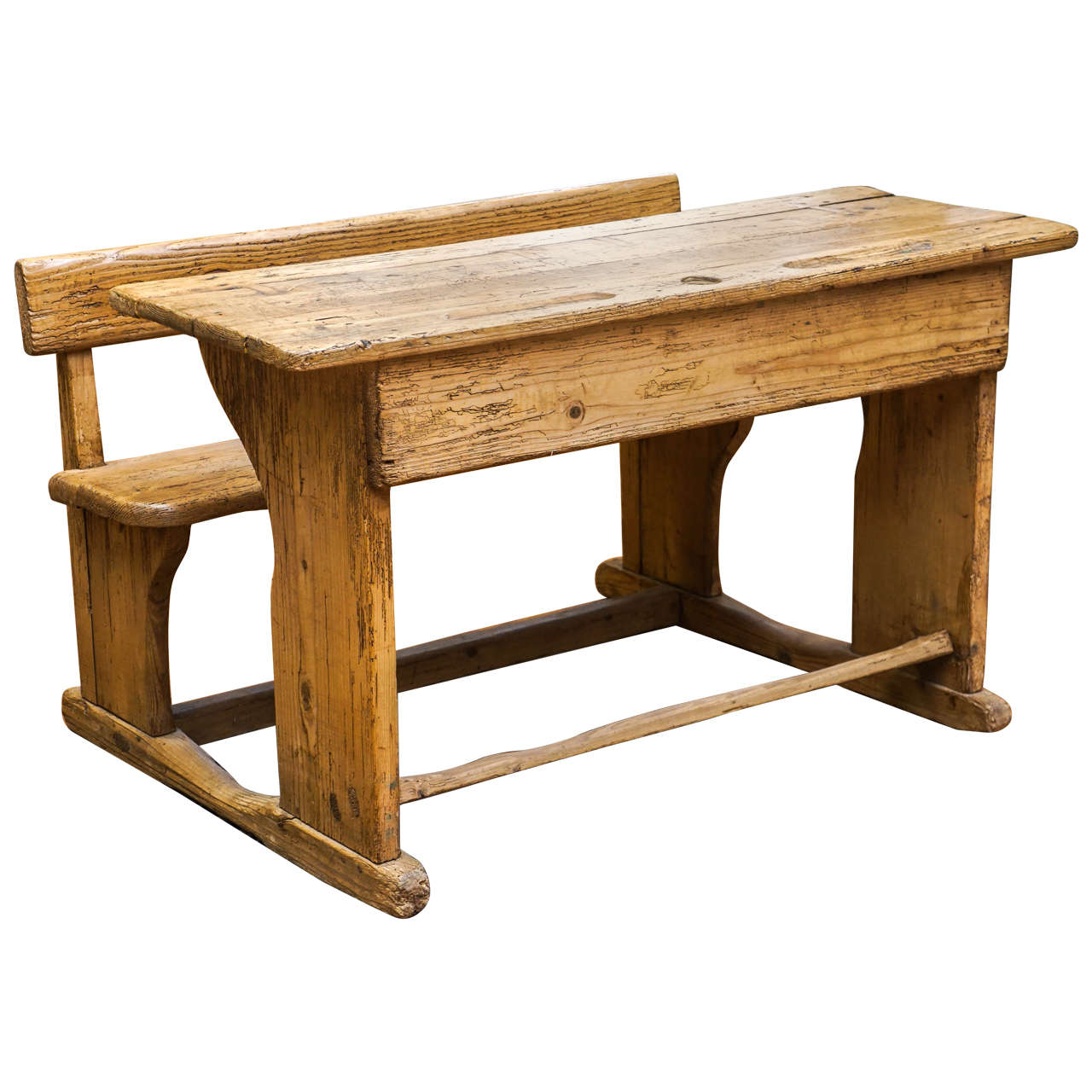 Two Seat English School Desk At 1stdibs