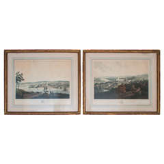 Pair of Engravings of Scottish Villages Published by Smith and Elder, London