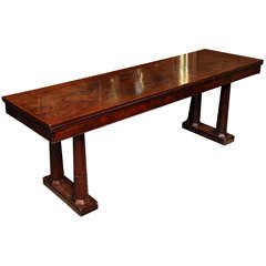 English Mahogany Serving Table