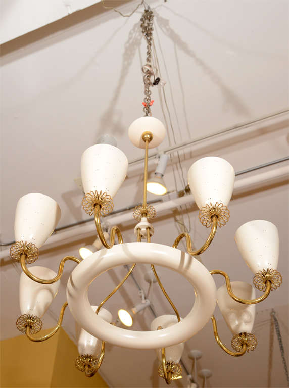 Lightolier Chandelier In The Manner Of Paavo Tynell At 1stdibs