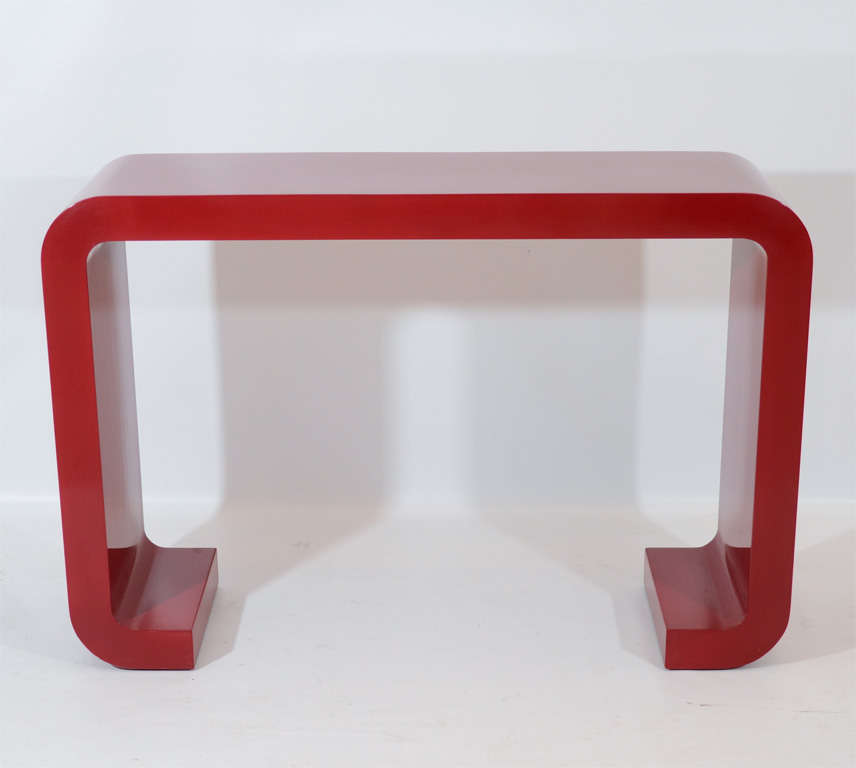 Red Lacquered Console Table 2