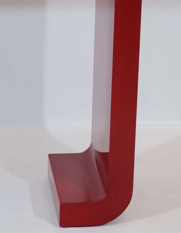 Red Lacquered Console Table 3