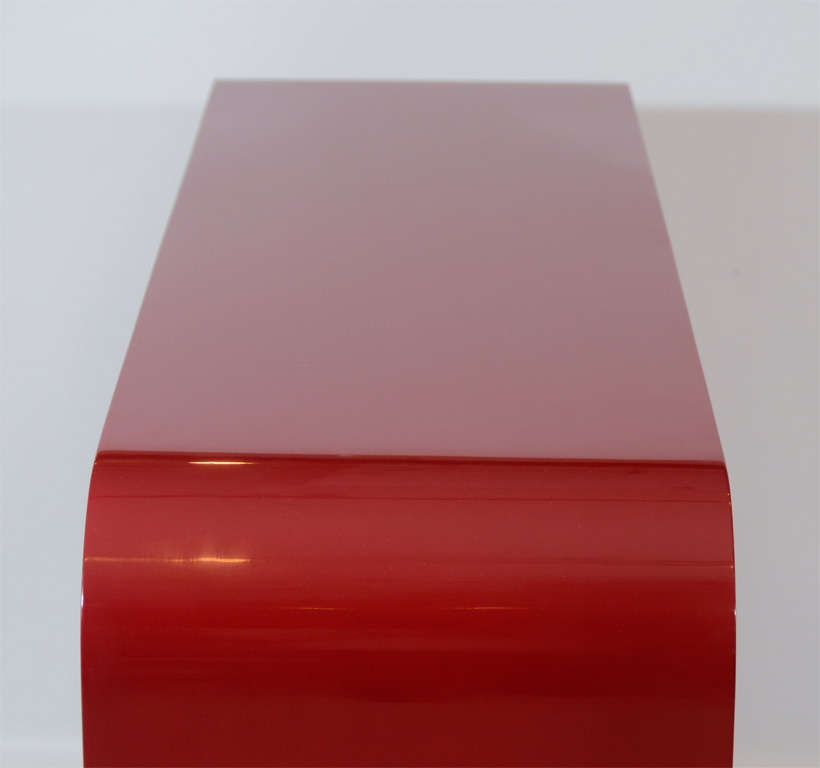 Red Lacquered Console Table 6