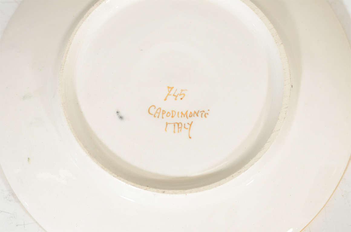 Vintage Italian Capodimonte Tea or Espresso Service for Six 8