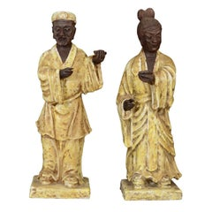 "Pair of Mid Century Asian-Inspired ""Sage"" Figures by Fantoni"