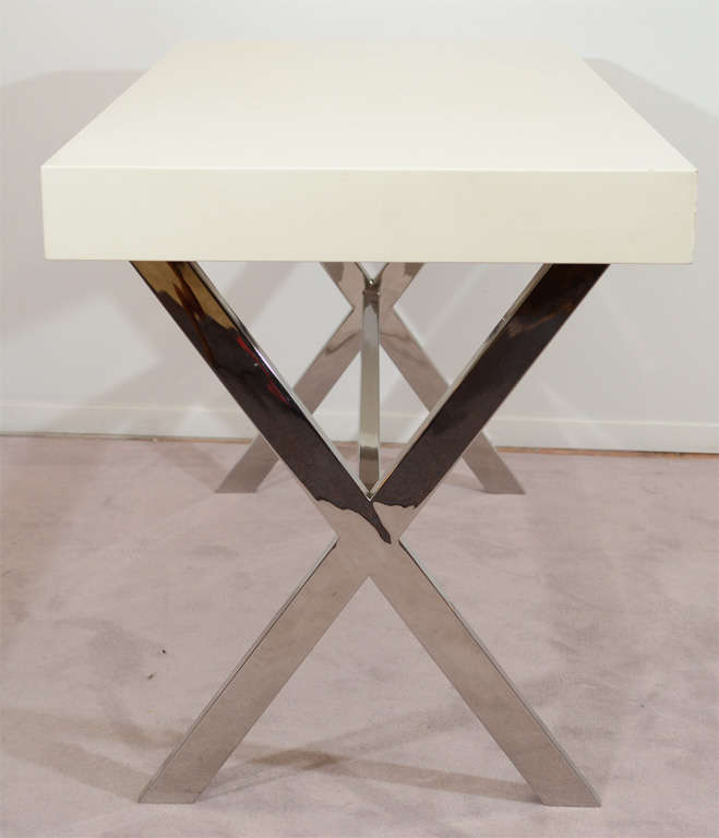 X Base Console Table Quot Nickel