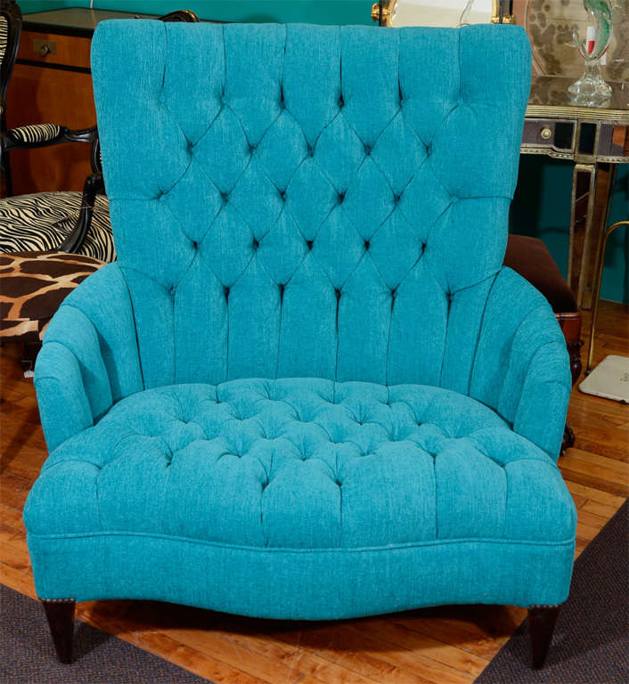 A Vintage, Extra Wide Chair (referred To As A