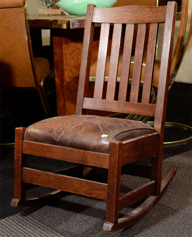 Antique Arts and Crafts Rocking Chair by Stickley 3 - Antique Arts And  Crafts Rocking Chair - Antique Stickley Furniture Antique Furniture
