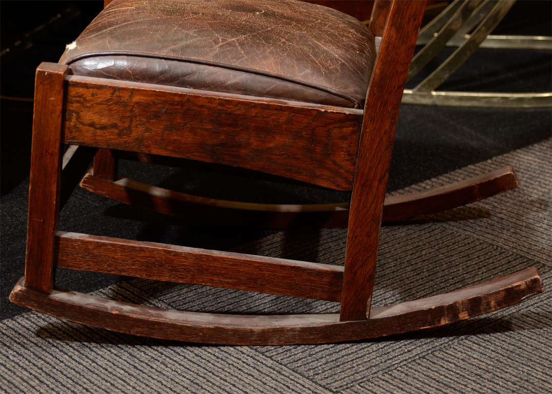 antique arts and crafts rocking chair by stickley at 1stdibs