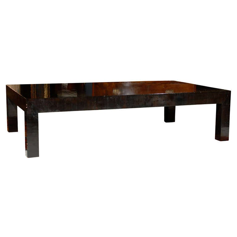 Oversized Parsons Style Coffee Table By Gracie