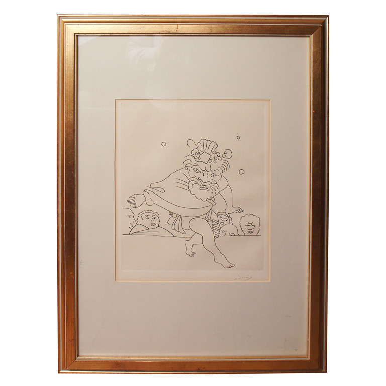 Andre Derain Etching signed in pencil For Sale