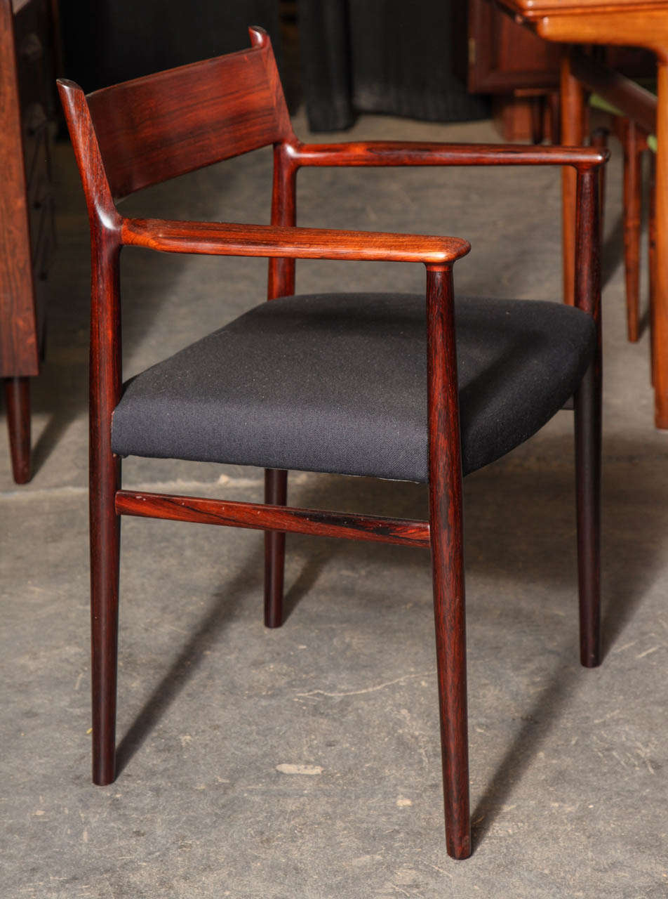 Arne Vodder Rosewood Dining Room Chairs At 1stdibs