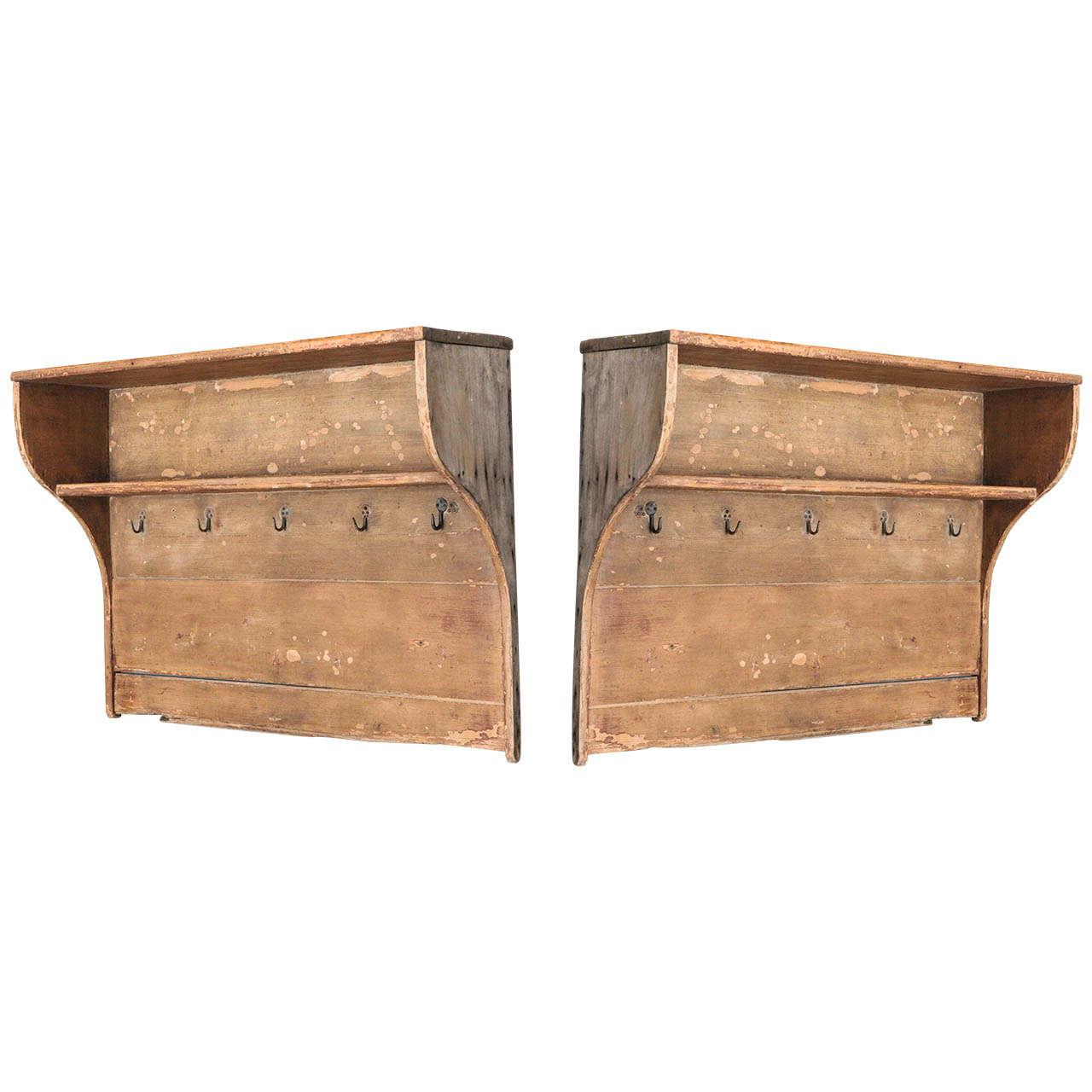 a pair of hanging danish kitchen racks 18th c at 1stdibs