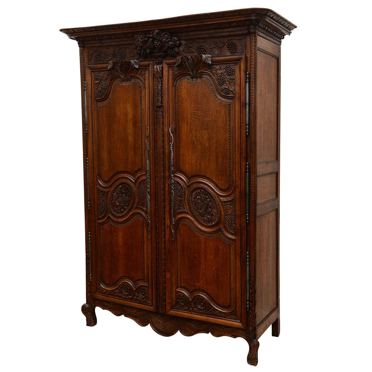 french two door armoire 19th century at 1stdibs. Black Bedroom Furniture Sets. Home Design Ideas