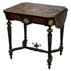 French Drop-Leaf Center Table, Vanity, or Desk from the 19th Century