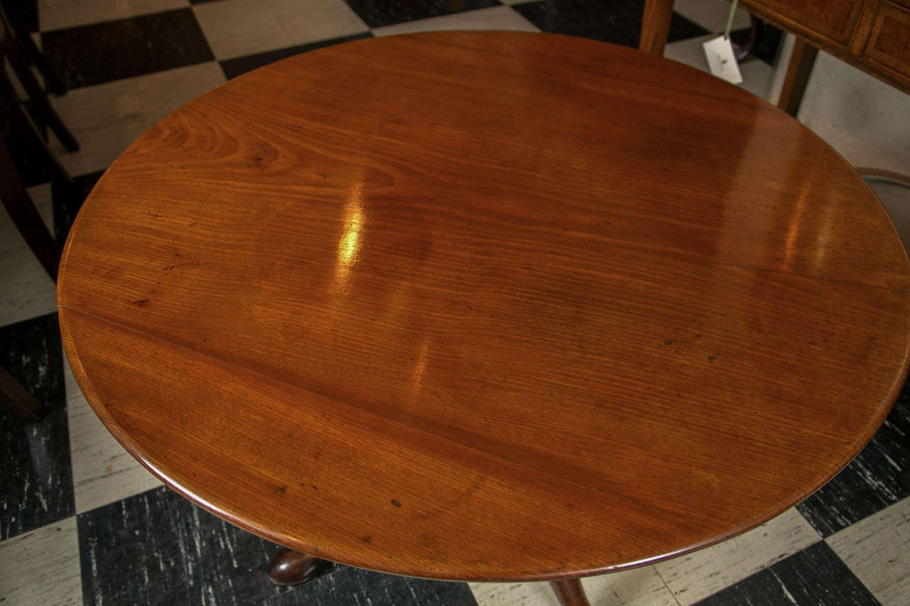 19th Century English Mahogany Tilt-Top Table For Sale