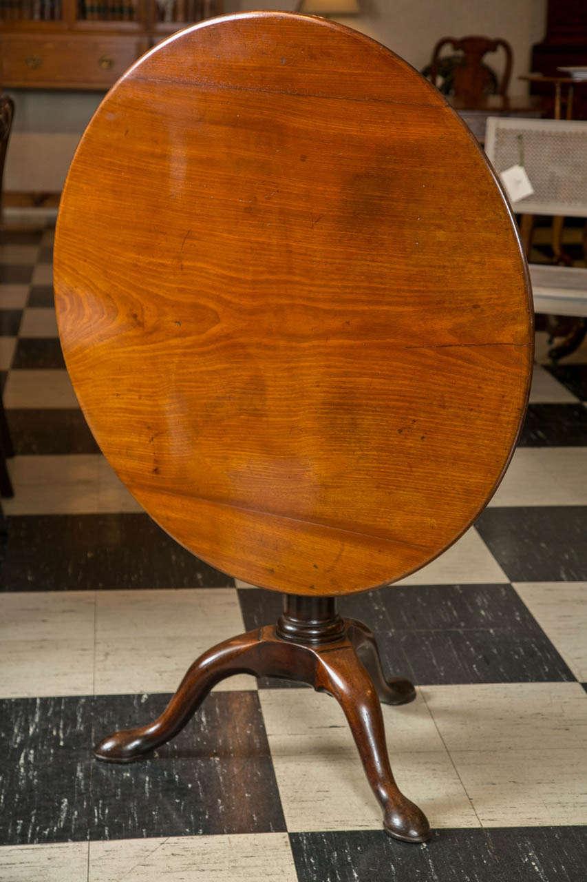 English Mahogany Tilt-Top Table For Sale 1