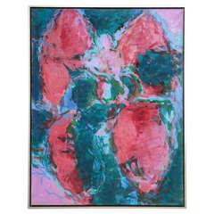 "20th Century Abstract by Jan Sivertsen, ""Rose-Sprinx,"" 2002"
