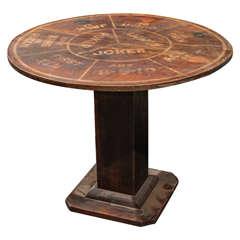 Folk Art Poker Table