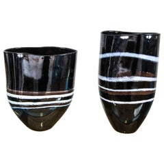 Two Glass Vases by Marianne Buis
