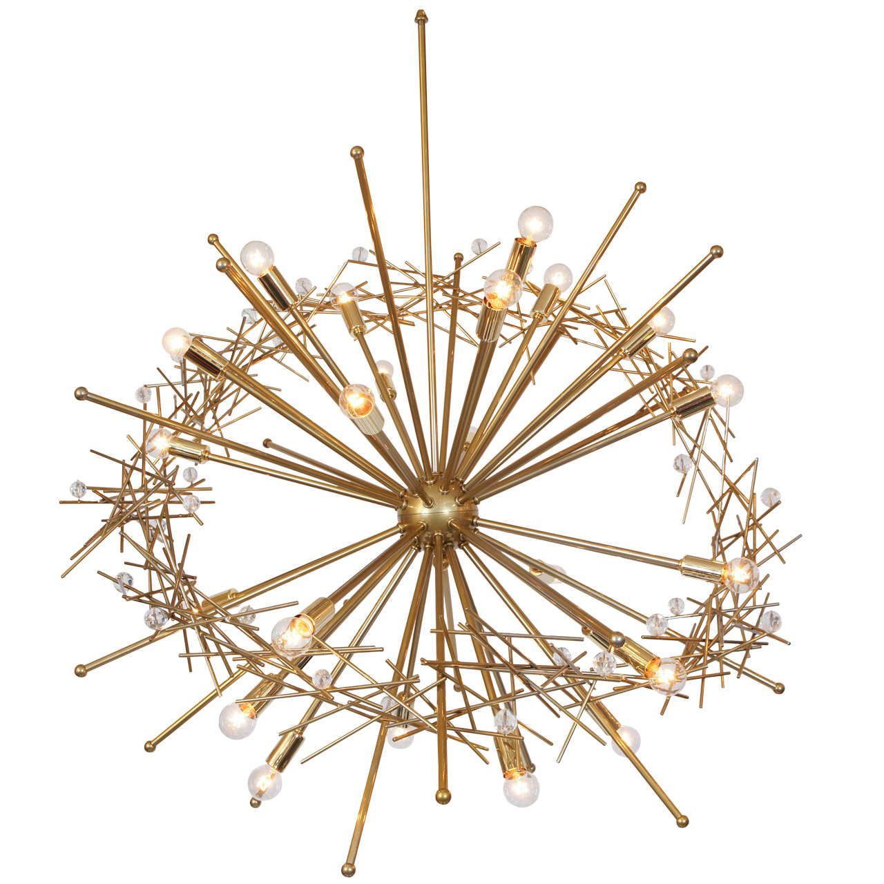 """Large Double Ring Chandelier At 1stdibs: """"Ring-Nebula"""" By Lou Blass, Original One-of-a-kind"""