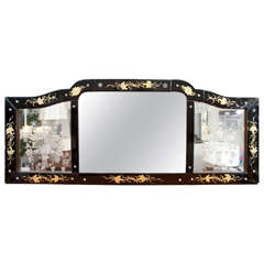 American Venetian Style  Over Mantle Mirror