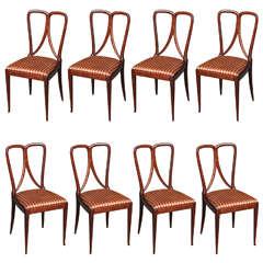 Set of Eight Dining Chairs by Guglielmo Ulrich