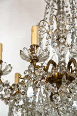 Bronze and Crystal Georgian Style Chandelier. image 3