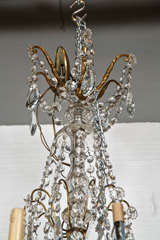 Bronze and Crystal Georgian Style Chandelier. image 4