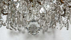 Bronze and Crystal Georgian Style Chandelier. image 5