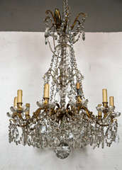 Bronze and Crystal Georgian Style Chandelier. image 9