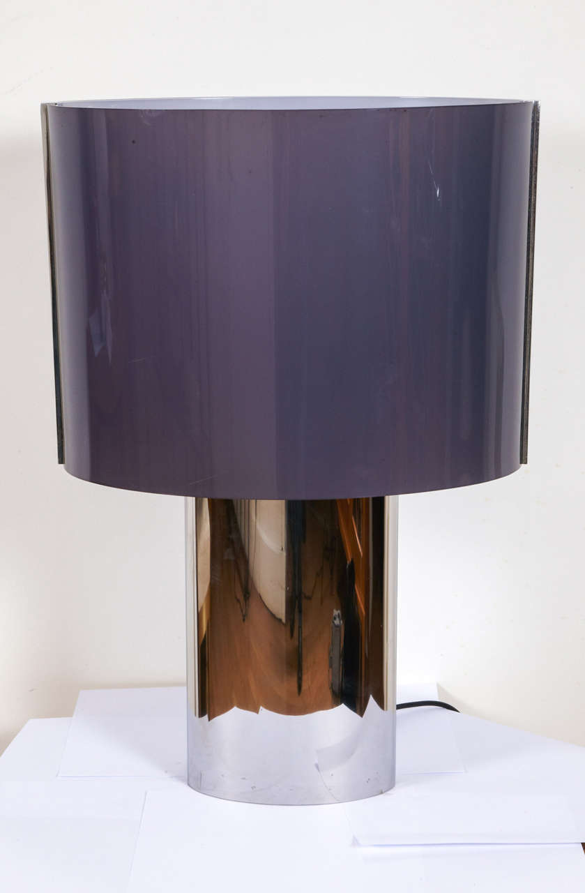 French Pair Of Large Table Lamps, France, 1970's