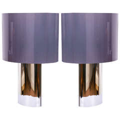 Pair Of Large Table Lamps, France, 1970's