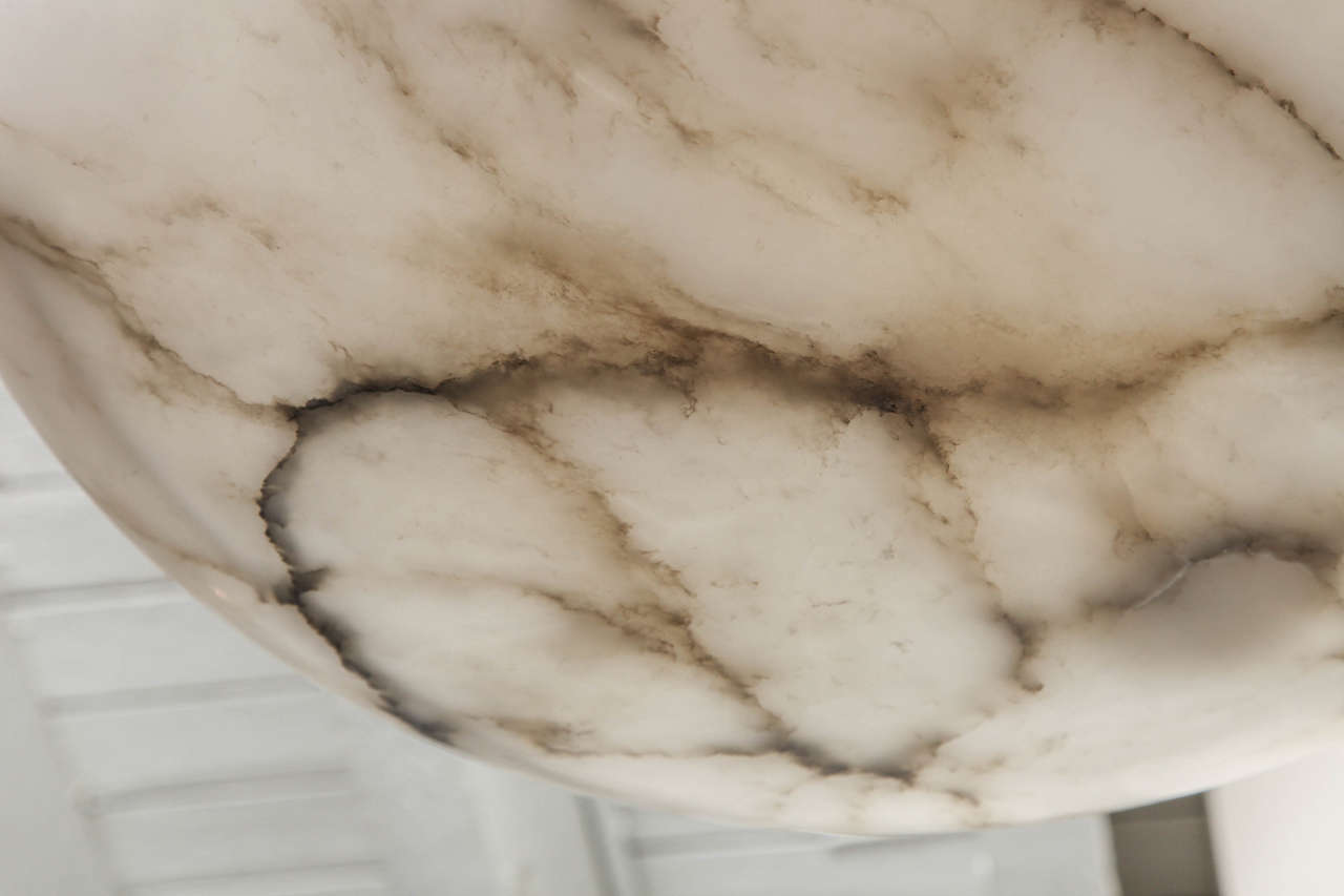 20th Century Alabaster Chandelier  For Sale 1