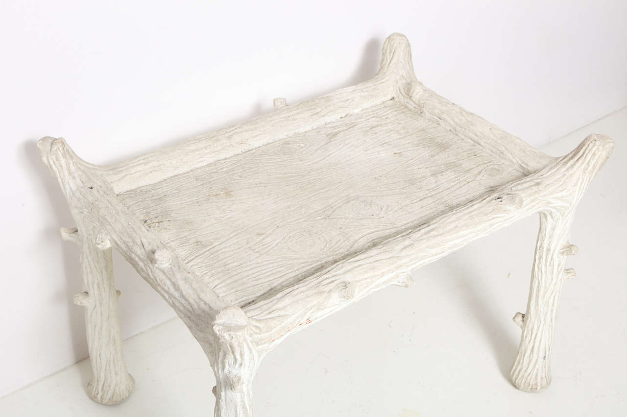 American John Dickinson Plaster Twig Table For Sale