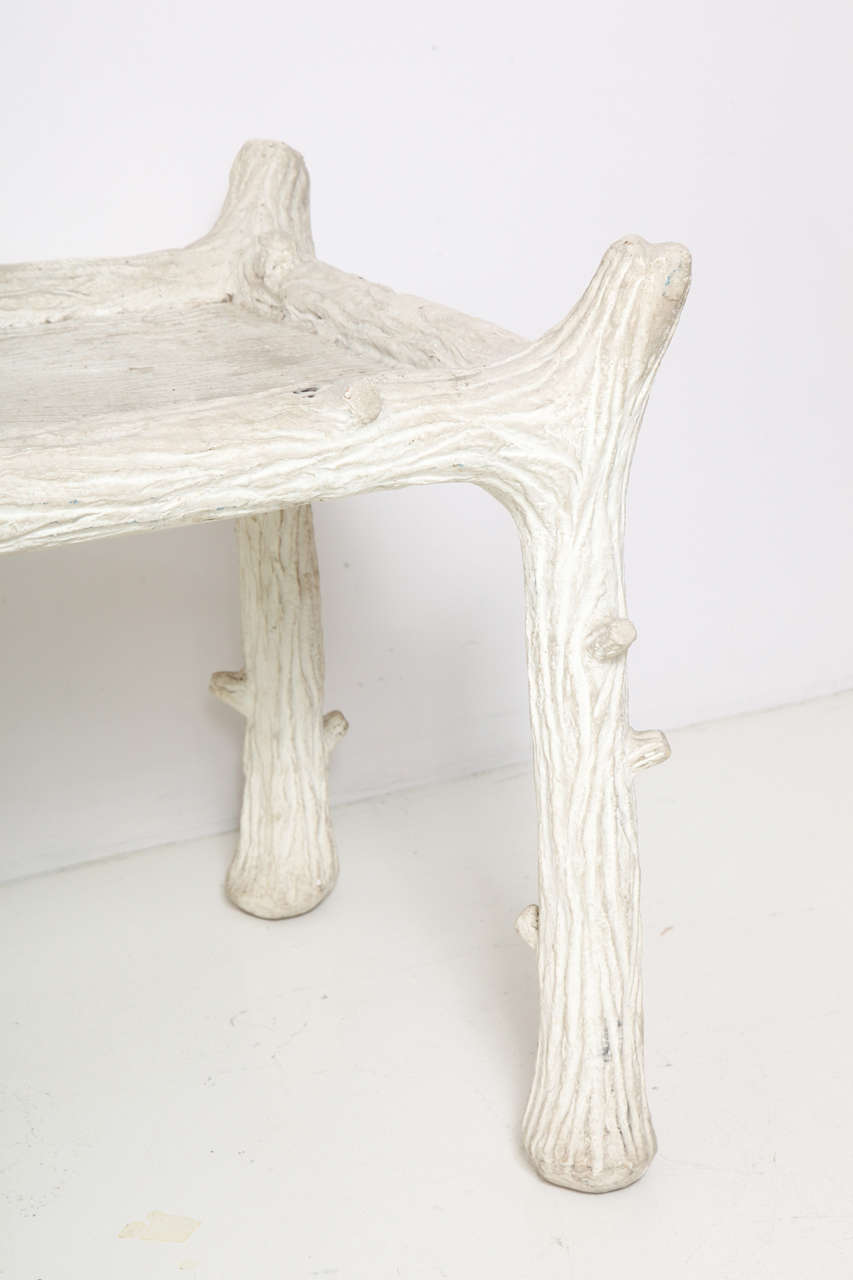 John Dickinson Plaster Twig Table In Good Condition For Sale In New York, NY