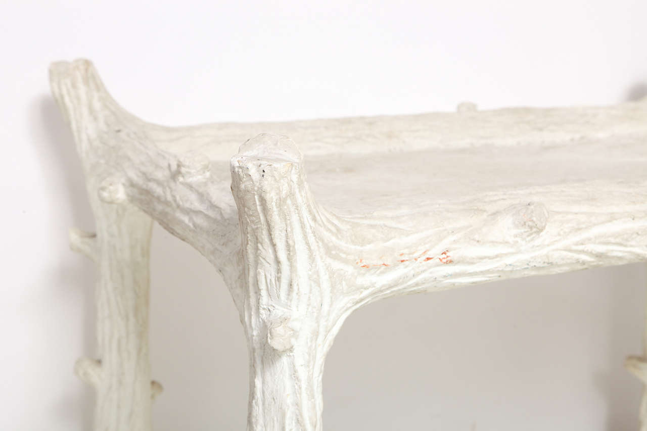 John Dickinson Plaster Twig Table For Sale 1