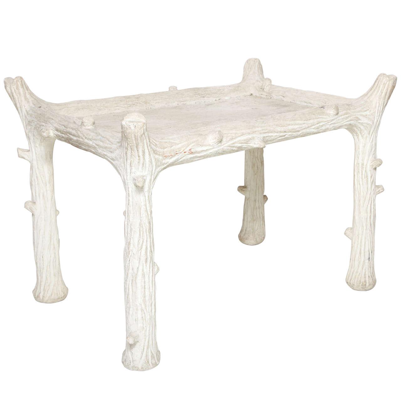 John Dickinson Plaster Twig Table