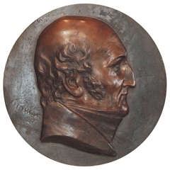 20th Century Bronze Portrait Rondel