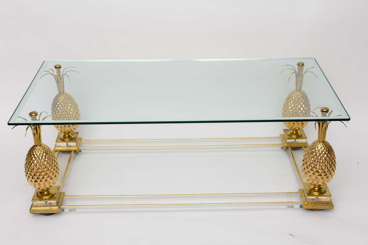 Vintage French Coffee Table With Pineapple Motif At 1stdibs