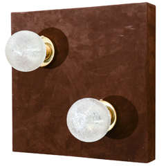 Pair of Spun Glass sconces by Doria