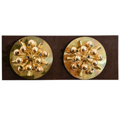 Large Gold Sputnik Fixtures