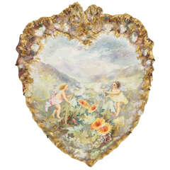 19th Century Hand-Painted Porcelain Plaque by Turner